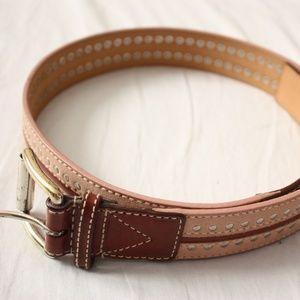 Michael Kors Blush and Leather Belt